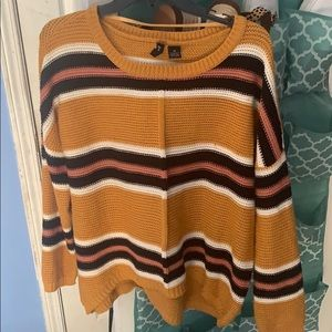 chunky striped sweater!